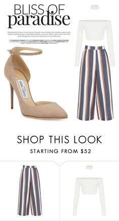 """""""Untitled #11"""" by eprodana ❤ liked on Polyvore featuring Warehouse and Jimmy Choo"""