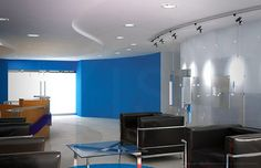 3d rendering of Pepsi's reception area.