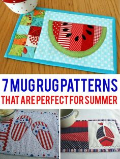Summer Mug Rug Patterns