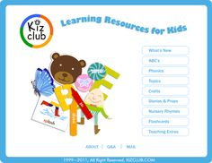 Great resource website for preschool and kindergarten