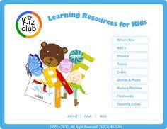 Great resource website for preschool and kindergarten