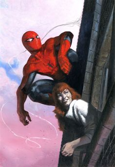 Variant cover art by Gabriele Dell'Otto for 'The Amazing Spider-Man: Renew Your Vows' issue published August 2015 by Marvel Comics Amazing Spiderman, Spiderman Art, Comic Book Superheroes, Marvel Comic Books, Comic Books Art, Marvel Comics, Marvel Heroes, Spider Verse, Batman