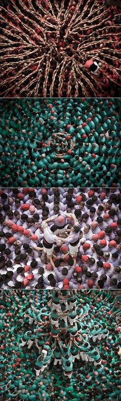 Once every two years the city of Tarragona in Spain transforms into the Concure de Castelle aka the most important human tower competition in Catalonia.
