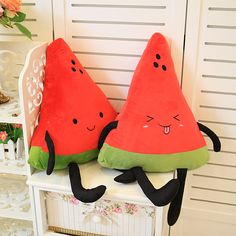 Special cute 1pc 40cm happy fruit watermelon plush doll hold pillow soft cushion stuffed toy children novelty creative gift  $17.26