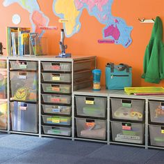 Storage is my favorite! It allows you to store a lot of supplies and resources without cluttering your room.  This would be good for supplies and textbooks.