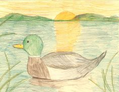 The 2013 Florida Junior Duck Stamp of Sawyer Jennings, 7, honorable mention in Group 1, grades K-3. DDWS photo