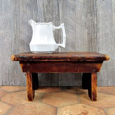 Rustic Wooden Step Stool  Wooden Lift  Primitive by edithandolive, $38.00