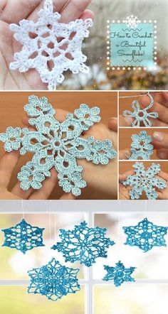 How To Crochet Beautiful Snowflakes [Video]
