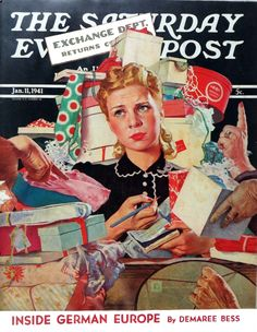 Saturday Evening Post Magazine January 11,1954 Douglass Crockwell Art