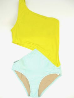Elmar One Piece Swimsuit by Araks... could easily make from 2 unused one pieces