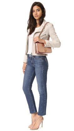 Tory Burch Mercer Adjustable Shoulder Bag in Rose Gold