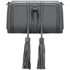 Yoins Grey Textured Leather-look Clutch Bag with Detachable Tassel... (€26) ❤ liked on Polyvore featuring bags, handbags, clutches, grey, grey clutches, gray purse, tassel purse, embellished handbags and faux purses