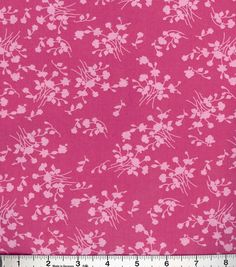 Buttercream™ Olivia Cotton Fabric-Ditsy Floral Vine Pink