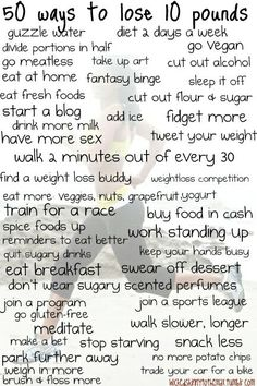 nice easy ways to lose weight!