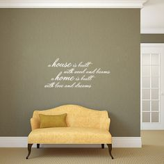 Sweetums A House Is Built Wall Decal 36-inch Wide x 16-inch Tall