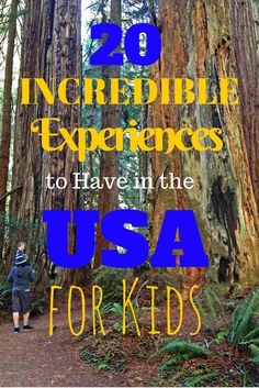 20 Incredible Experiences to Have in the USA for Kids: If you're looking for family vacation ideas for start here! After 18 months of travel around the USA, we've come up with a list of 20 incredible experiences you can have with your children in America. Family Vacation Destinations, Great Vacations, Vacation Trips, Travel Destinations, Family Summer Vacation Ideas, Best Family Vacations, Midwest Vacations, Family Getaways, Vacation Packages