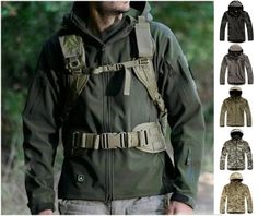 Campaign season : Men's Waterproof Army Outdoors Jacket// WANT! I'd better tell the wife