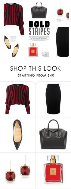 """""""Big, Bold Stripes"""" by katsin90 ❤ liked on Polyvore featuring Sonia Rykiel, Alexander McQueen, Christian Louboutin, Givenchy, Anne Sisteron, Avenue, Avon and BoldStripes"""