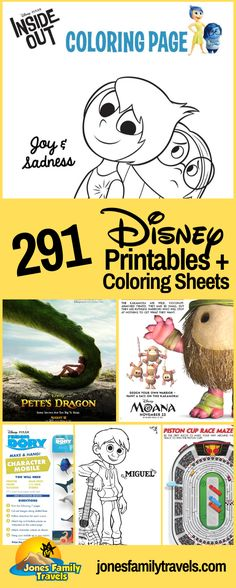 Are you dreaming of Disney? We share 291 Disney Coloring Pages & Printables that you can create some magic at home. #disney #disneyworld #disneyland