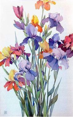 Resultado de imagen de flower art #watercolorarts