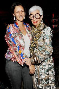 Sally Singer of Vogue and Iris Apfel