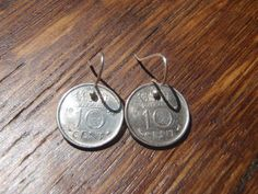 Earrings out of Netherlands Coins