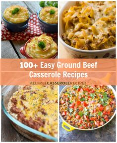 100+ Easy Ground Beef Casserole Recipes | Comfort food recipes, Mexican casseroles, and much more!