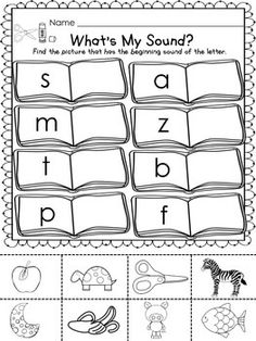 BACK TO SCHOOL FREEBIE! - What's my sound - what's the number? #worksheets