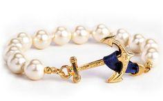 Kiel James Patrick Pearl Anchor Bracelet, $68.00 (http://www.purseladytoo.com/kiel-james-patrick-pearl-anchor-bracelet/)