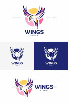 Wings Logo - Animals #Logo #Templates Download here: https://graphicriver.net/item/wings-logo/20402254?ref=alena994