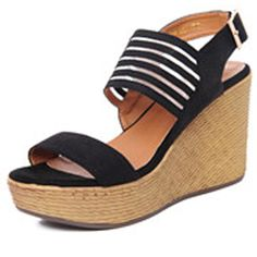 Top sale women fashion summer spring wedges sandals with thick bottom buckle strap comfortable fish mouth sandals with platform