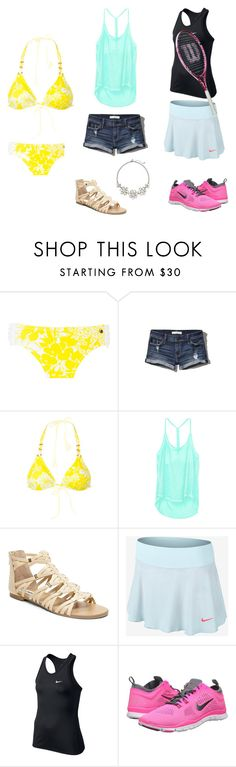 """When is summer coming?"" by wintema ❤ liked on Polyvore featuring Raisins, Abercrombie & Fitch, Victoria's Secret, Steve Madden, NIKE and The Limited"