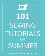 If youre looking for a simple and quick summer project, youve come to the right spot! Heres a list of 101 fresh and fabulous sewing tutorial for Summer! You can find beach chairs, picnic totes, home decor projects and some beautiful summer dresses that I love, love, love!  There has to be something here you could sew