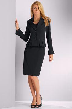 metrostyle ---- dress suit ----Paige Butcher---MS_15951_BLACK---- Dress Suits, Dresses, Peplum Dress, Ms, Collection, Black, Fashion, Vestidos, Moda