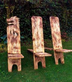 Hildegard Diemer - Skulpturen (Woodworking Chair)