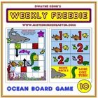This is a typical board game with an ocean theme. The students choose cards and race to be the first to the safety of the coral, away from the dang. K Board, Board Games, Speech And Language, Language Arts, Pediatric Physical Therapy, Ocean Activities, Ocean Day, Working Memory, Water Safety