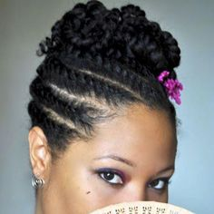 Flat Twisted in Updo!