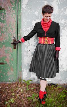 modernized folk costume from Sweden. I want this costume!
