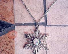 Handmade Snowflake Necklace Star Wish by moonlightcreazioni. Explore more products on http://moonlightcreazioni.etsy.com