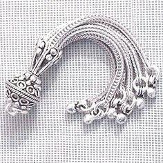 Turkish Sterling Silver Bead Tassel 7.5 gram 7 cm Layer Necklace, Oxidized Sterling Silver, Tassels, Beads, Bracelets, Earrings, Jewelry, Beading, Ear Rings