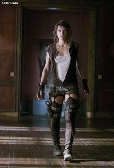 "One for @Treacle Tart. Watching the Resident Evil films at the moment, love how they created ""stockings"" for Alice."