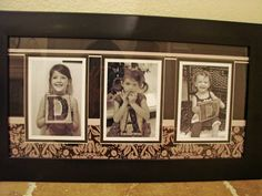 We also went to Hobby Lobby and had the kids pose with letters that spell Dad and took their picture. Then, we came home, printed them off and put them in a frame. I love that they each show their personality in the pictures. Very sweet. Here it is: