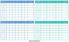 Free Printable Chore Charts via Clean Mama