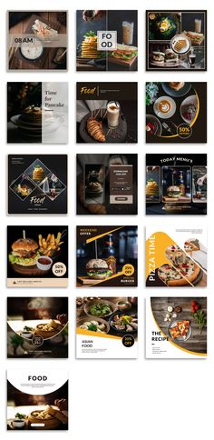Web Banner Design, Design Web, Food Graphic Design, Food Menu Design, Restaurant Menu Design, Instagram Feed Layout, Feeds Instagram, Instagram Post Template, Instagram Design