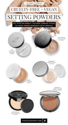 Cruelty-free and vegan setting powders available at Sephora!  Not tested on animals, no parent company animal testing, no animal ingredients!
