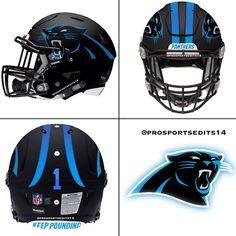 Carolina Panthers black concept