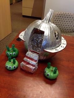 Alien Spaceship Pumpkin Fall Pinterest Spaceship Pumkin Carving And Halloween 2014