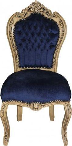 Silla de comedor vintage sillón barroco armlehnstuhl acolchado silla de madera silla silla Stilmöbel nach 1945