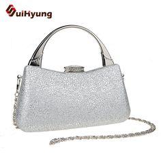 Free Shipping New Design Female Elegant Tote / Handbag Fashion Snowflake Glitter Diamond Women Day Clutch Party Evening Bag