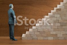 Businessman Action Figure with Wooden Staircase (royalty-free stock photo) © mgkaya